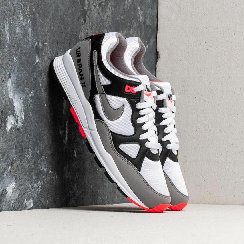 Nike Air Span II Black/ Dust-Solar Red-White EUR 40