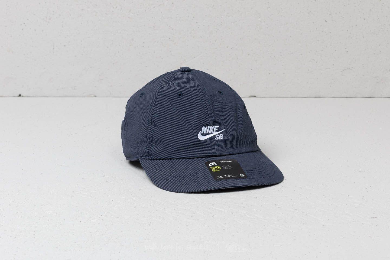 dc604b9a Nike SB Heritage86 Flat Cap Obsidian/ White | Footshop