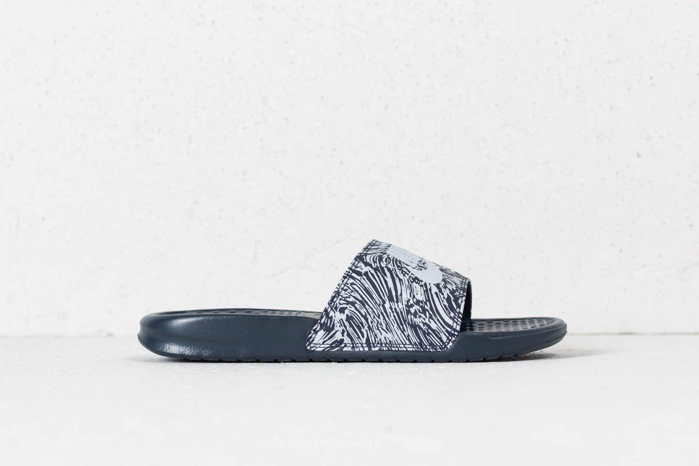 fbf40fbc2 Nike Benassi JDI Print Obsidian  Pure Platinum at a great price £26 buy at