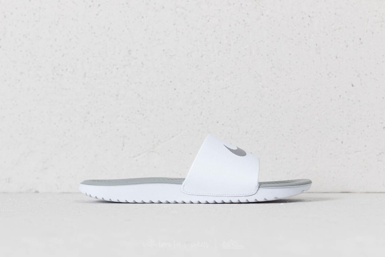 d6e93ecd1b39 Nike Kawa Slide Wmns White  Metallic Silver at a great price 20 € buy at