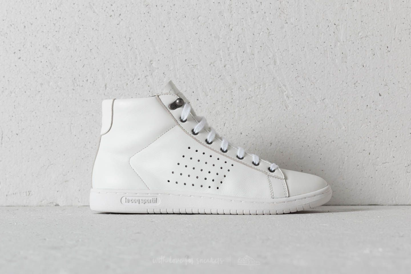 00f6f5936464 le coq sportif Arthur Ashe Mid Leather Optical White at a great price 99 €  buy