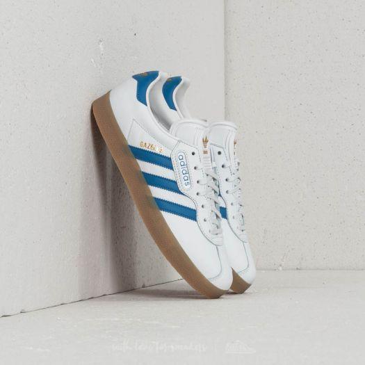 adidas Gazelle Super Crystal White/ Trace Blue/ Ftw White | Footshop