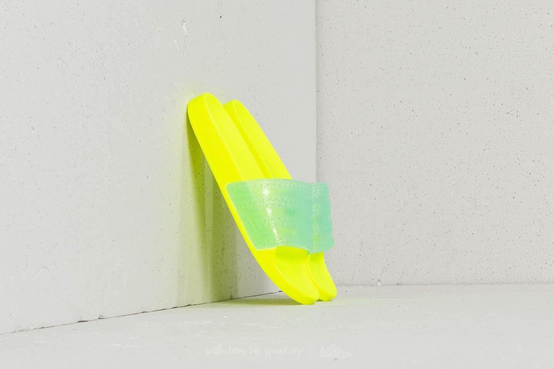 c64faaddef7 adidas Adilette Lilo W Solar Yellow  Clear Aqua  Solar Yellow