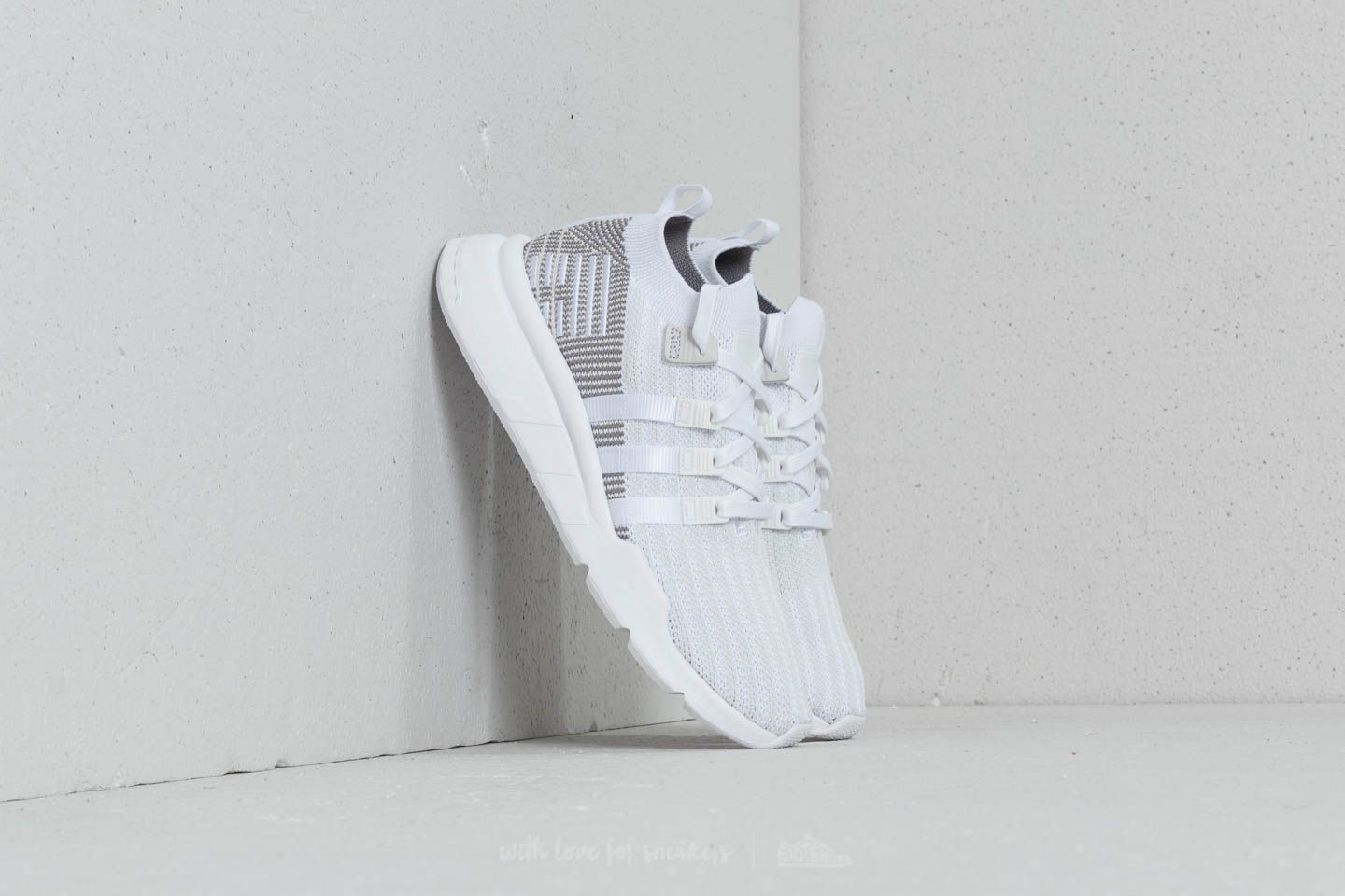 big sale ae048 19ae8 adidas EQT Support Mid ADV Primeknit Ftw White  Ftw White  Grey One at a