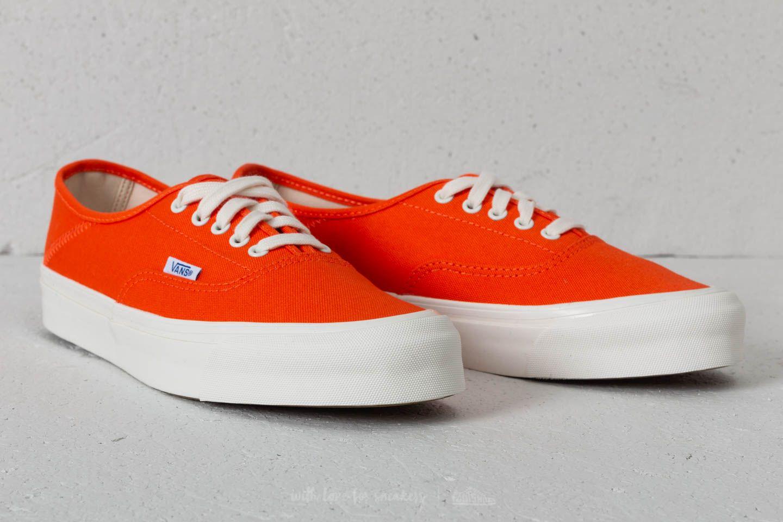 Vans OG Style 43 LX (Canvas) Red Orange Marsh | Footshop