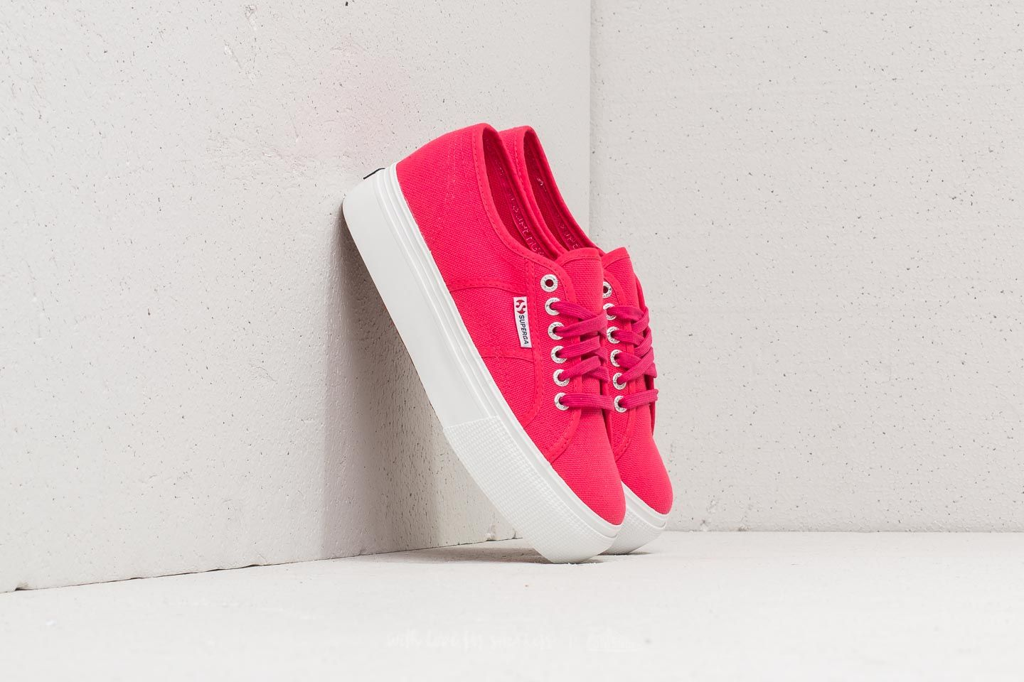 Superga 2790 Acot W Linea Up And Down Red Azalea