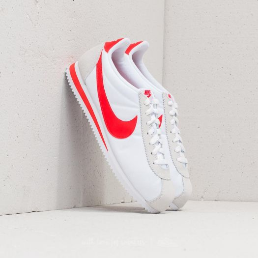 sale retailer c32cc ea6be Nike Classic Cortez Nylon White/ Habanero Red | Footshop
