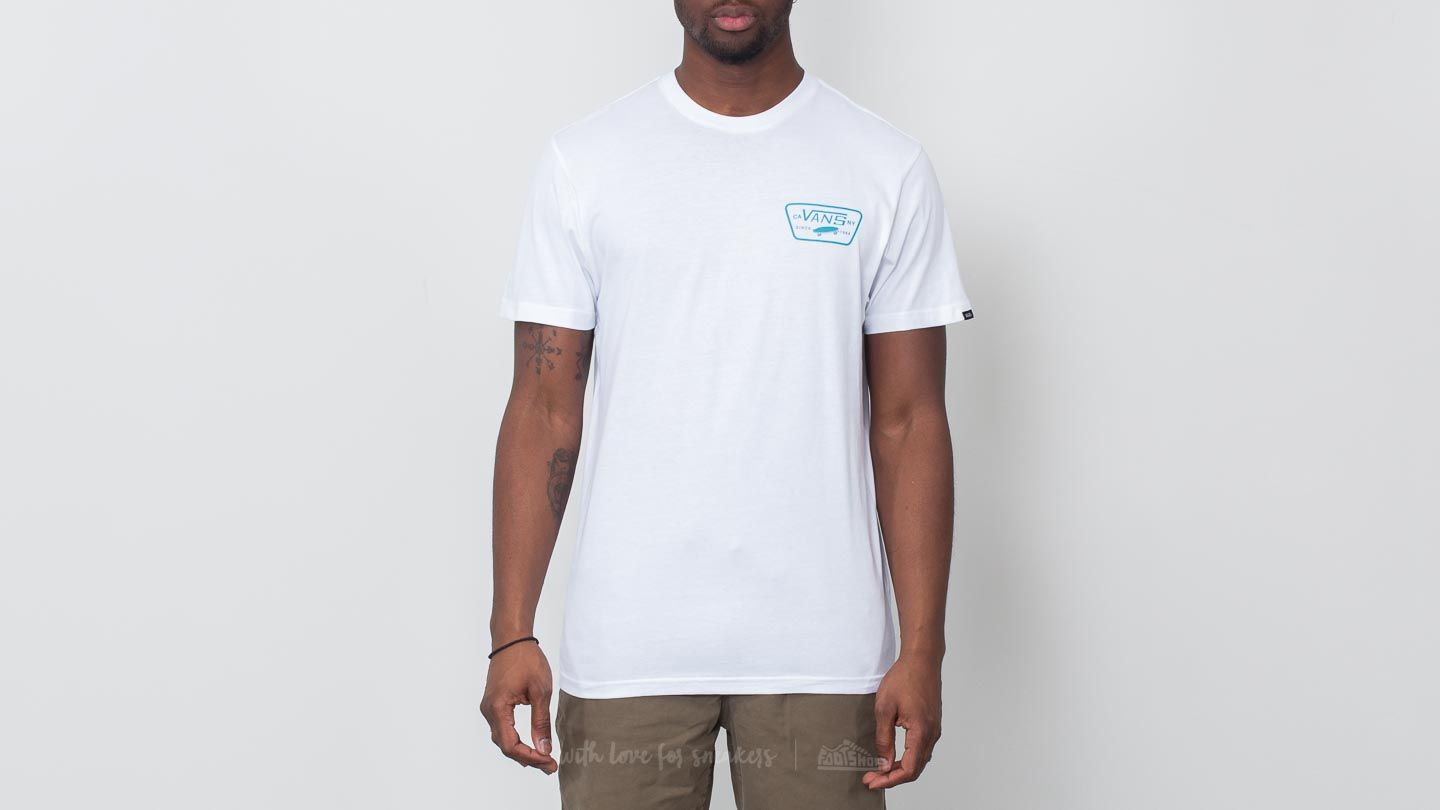 Vans Full Patch Back Tee White-Blue Moon