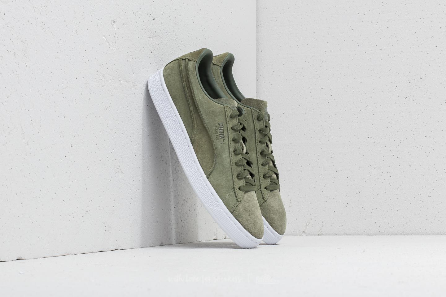 Puma Suede Classic Exposed Seams Capulet Olive