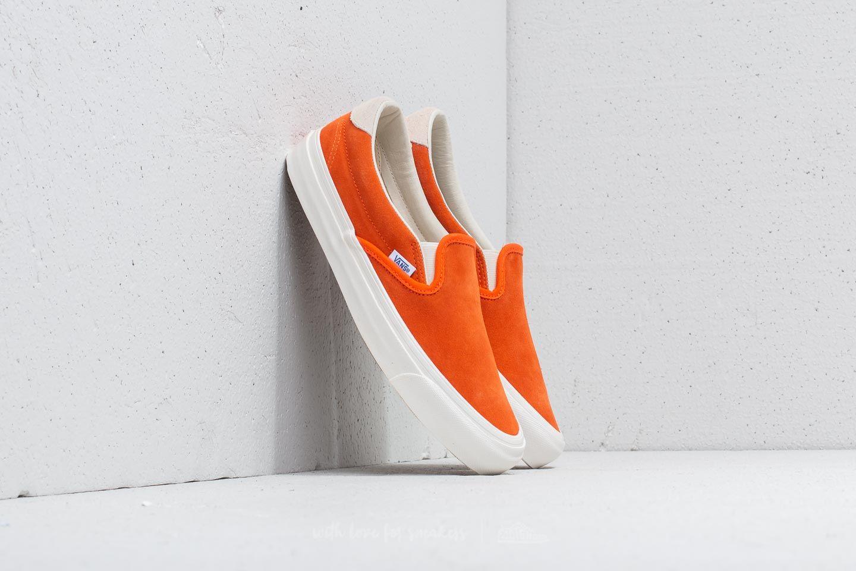 68452a845c Vans OG Slip-On 59 LX (Suede) Red Orange  Marshm at a
