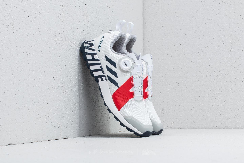 Desanimarse radioactividad Síguenos  Men's shoes adidas x White Mountaineering Terrex Two Boa White/ Collegiate  Navy/ Red | Footshop