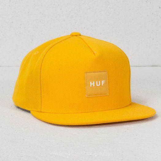 8fbb92df404 HUF Box Logo Snapback Yellow