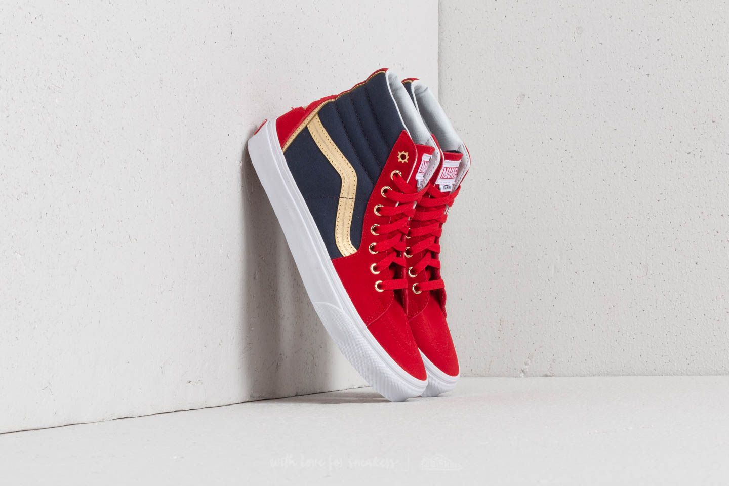 93efa9255f61 Vans SK8-Hi (Marvel) Captain Marvel  True White