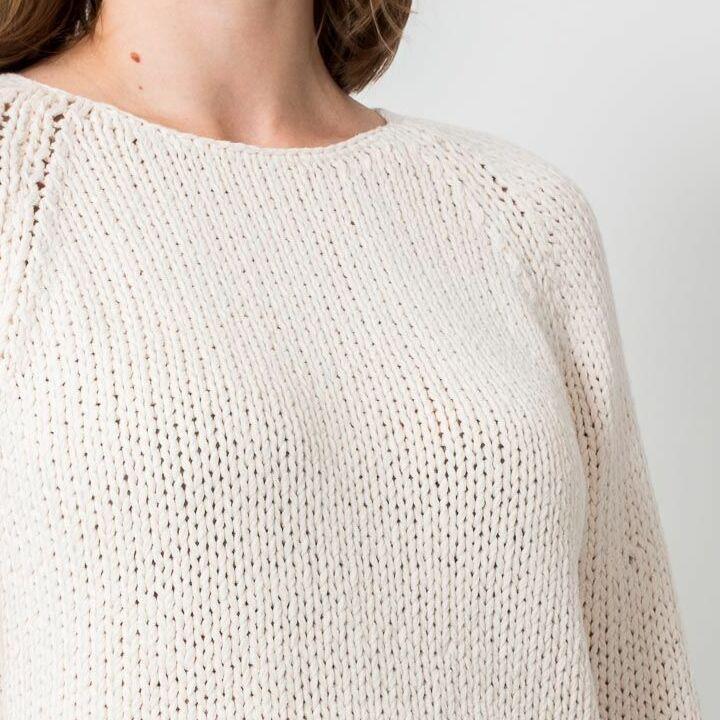 SELECTED Olga Longsleeve Knitted Pullover Birch, Brown