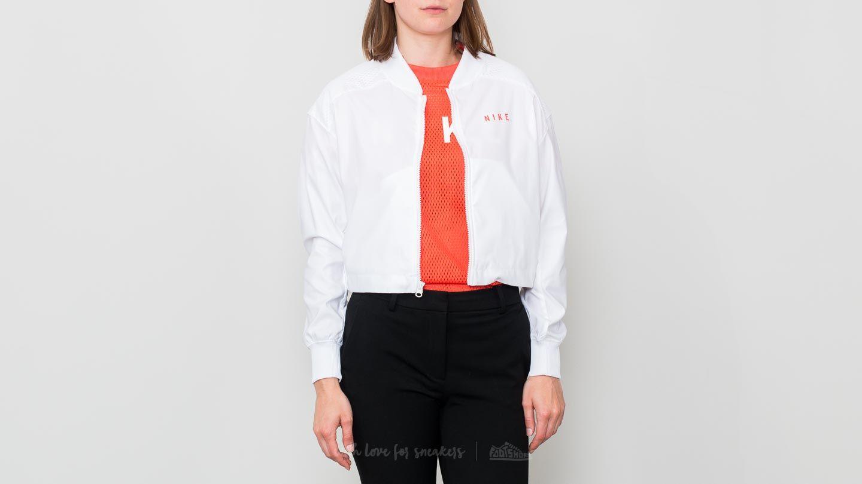 Nike Sportswear Mesh Bomber Jacket White/ Rush Coral