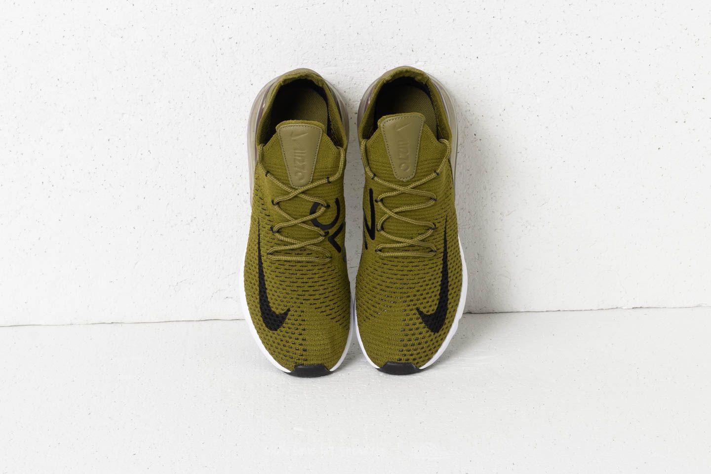 Nike Air Max 270 Flyknit Olive Flak Black Sepia Stone in