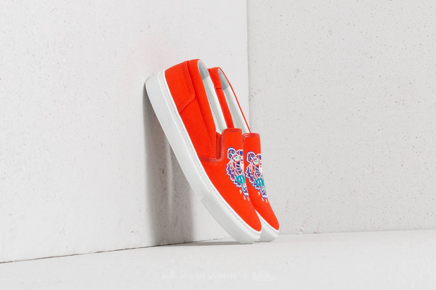 Women's shoes Kenzo K-Skate Tiger Sneakers Orange