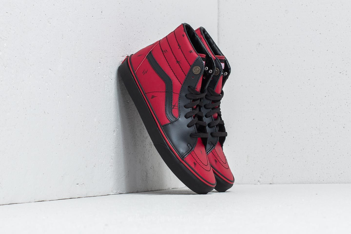 752c3fd9a885 Vans Sk8-Hi (Marvel) Deadpool  Black