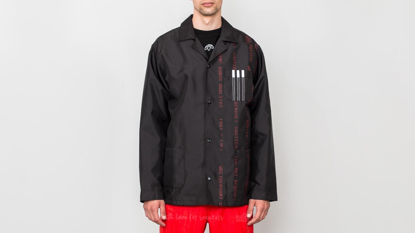 01fc61bd86 adidas x Alexander Wang Coach Jacket Black  White  Core Red at a great price