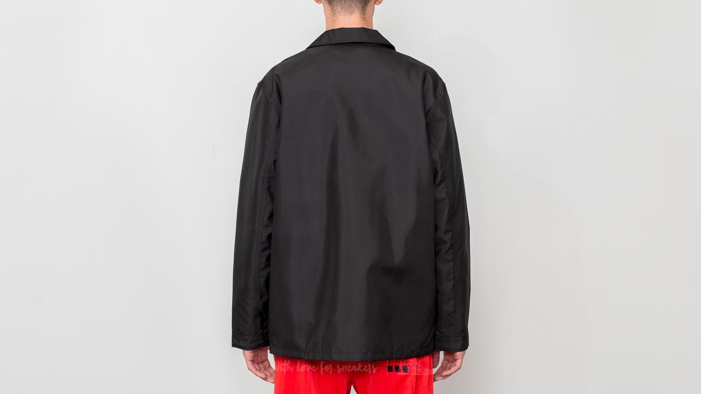 adidas x Alexander Wang Coach Jacket Black White Core Red | Footshop