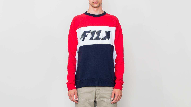 FILA Colour Block Sweatshirt Peacoat/ Red/ White za skvělou cenu 1 120 Kč koupíte na Footshop.cz