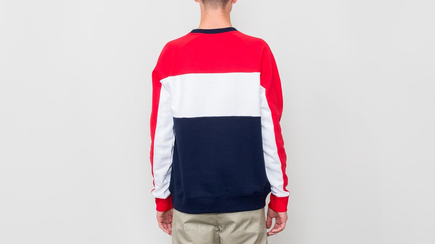 cae496ea4e04 FILA Colour Block Sweatshirt Peacoat  Red  White at a great price £42 buy