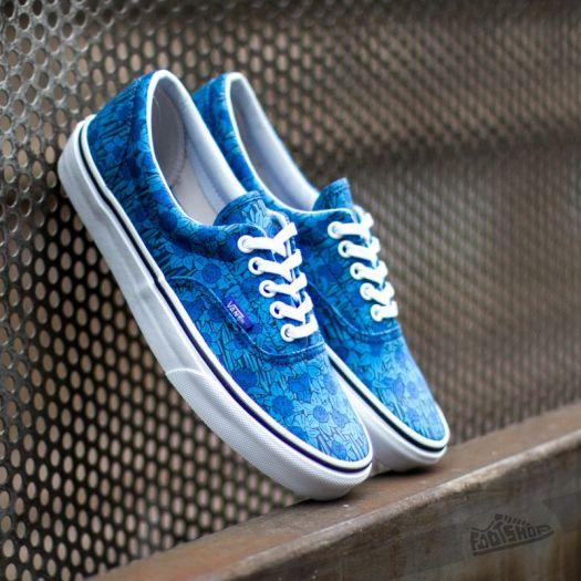 vans floral blue