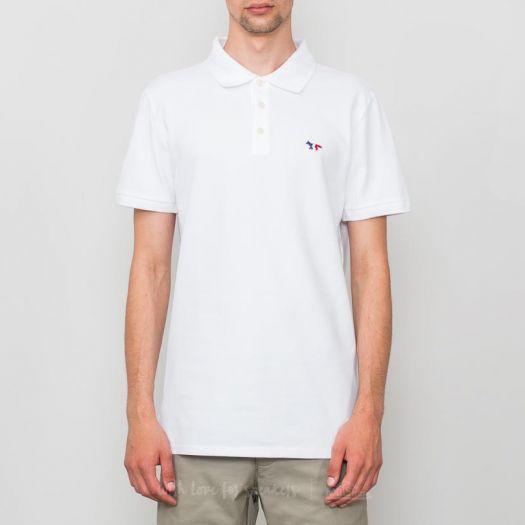 Beber agua físicamente germen  T-shirts MAISON KITSUNÉ Tricolor Fox Patch Polo T-Shirt White | Footshop