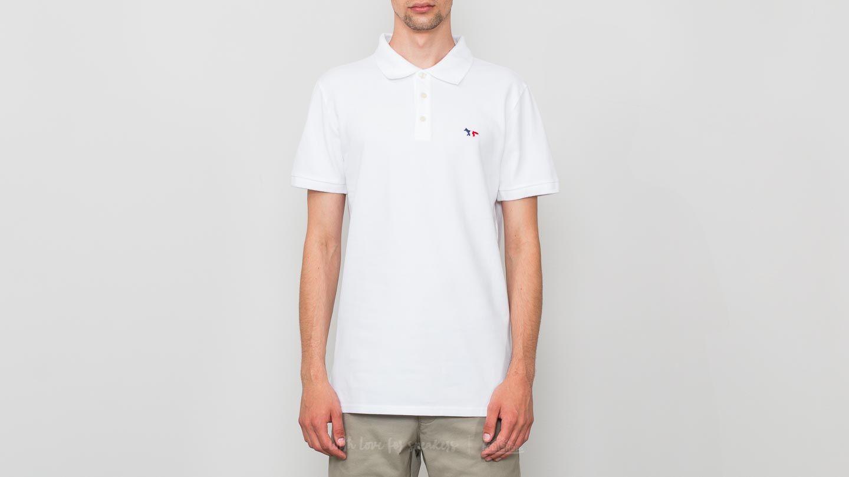 MAISON KITSUNÉ Tricolor Fox Patch Polo T-Shirt