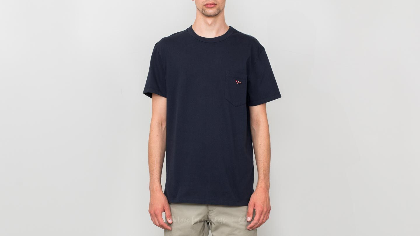 T-shirts MAISON KITSUNÉ Venice Fox Patch Tee Navy