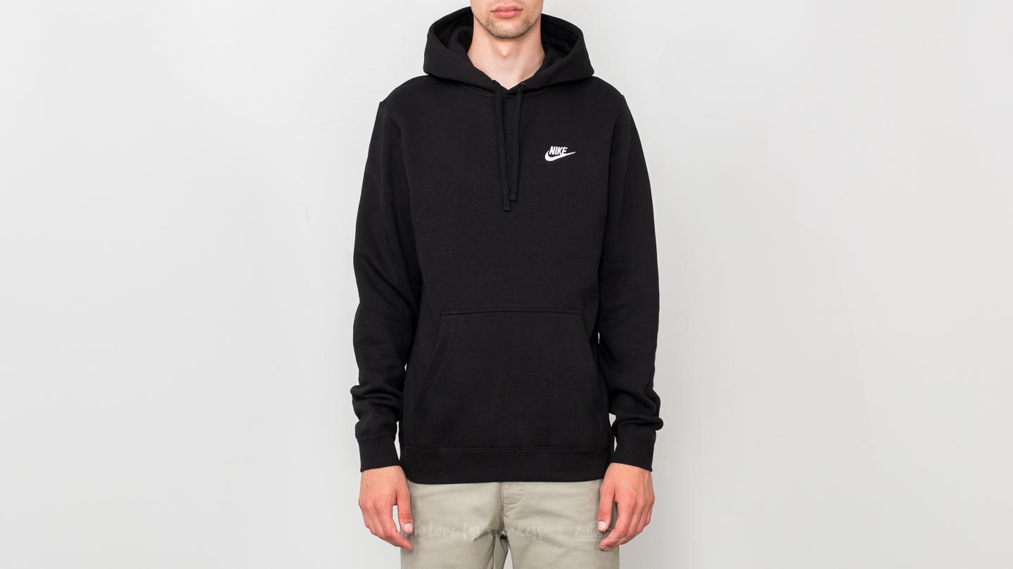 latest design details for buy sale Nike Sportswear Club Fleece Pullover Hoodie Black | Footshop