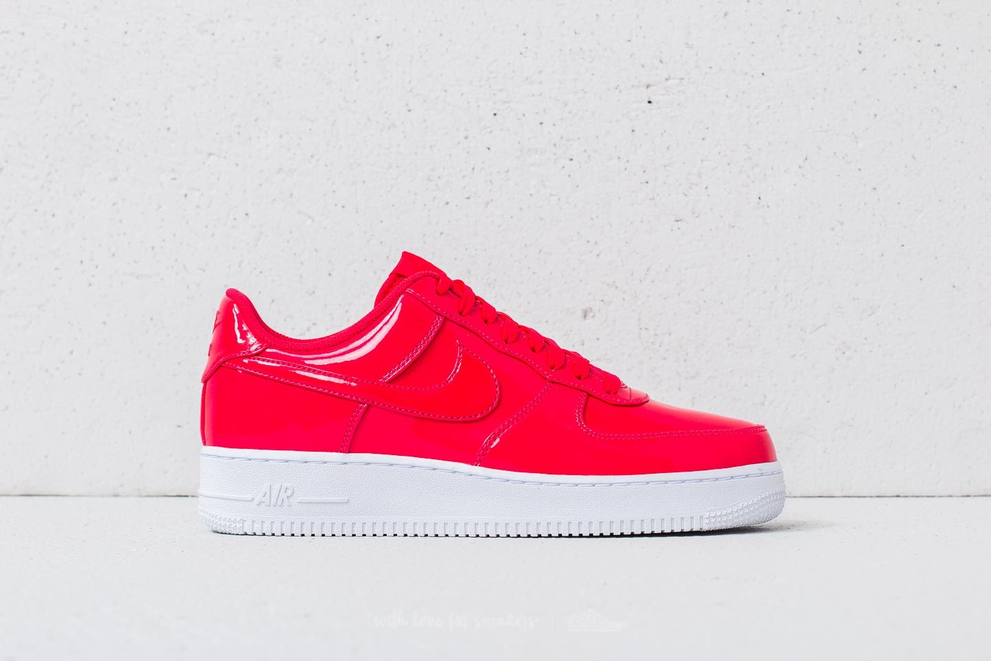 new style fad7b 6d91b Nike Air Force 1 07 LV8 UV Siren Red Siren Red-White at