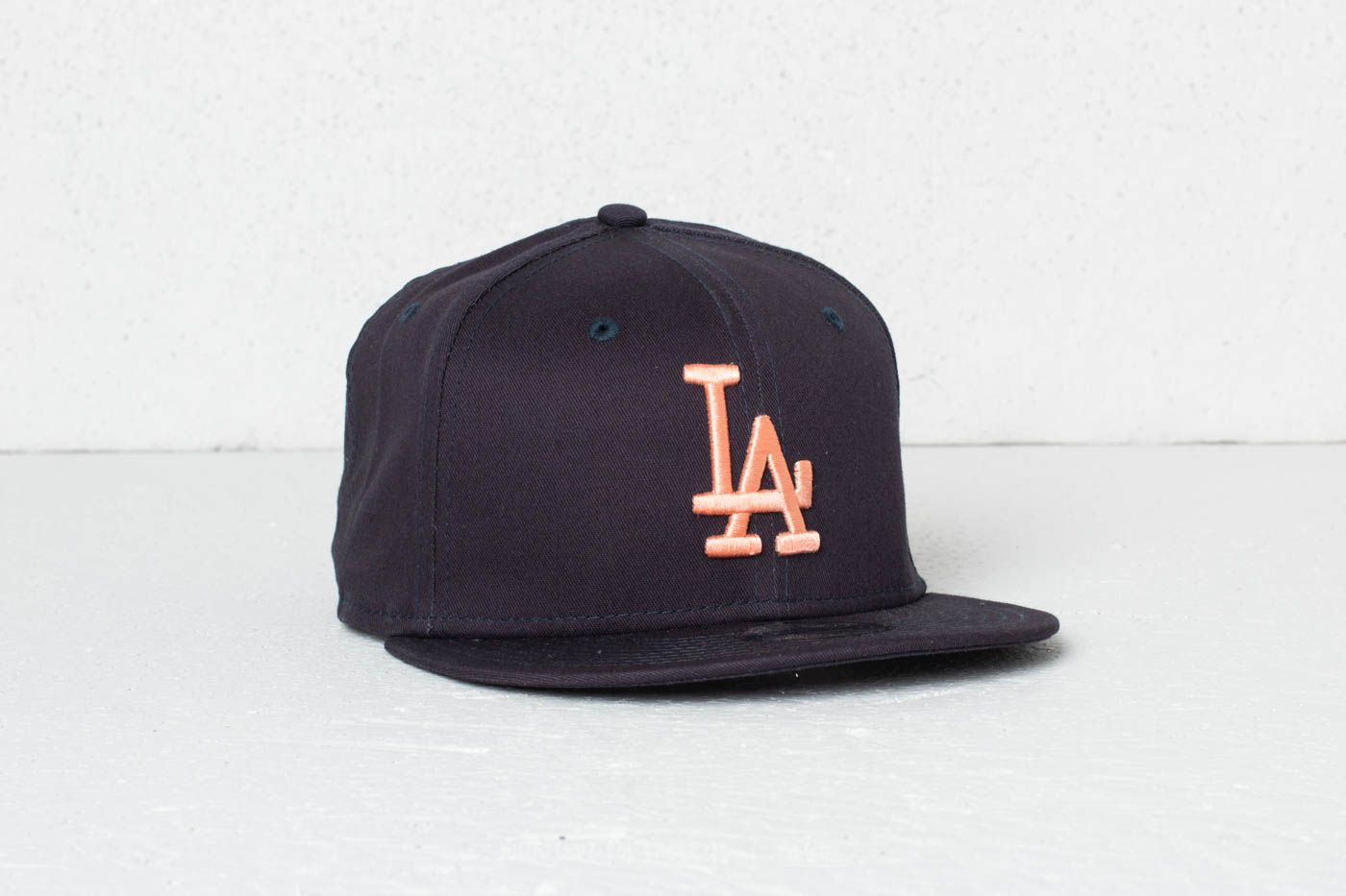 New Era 9Fifty Youth MLB League Essential Los Angeles Dodgers Cap Navy/ Peach