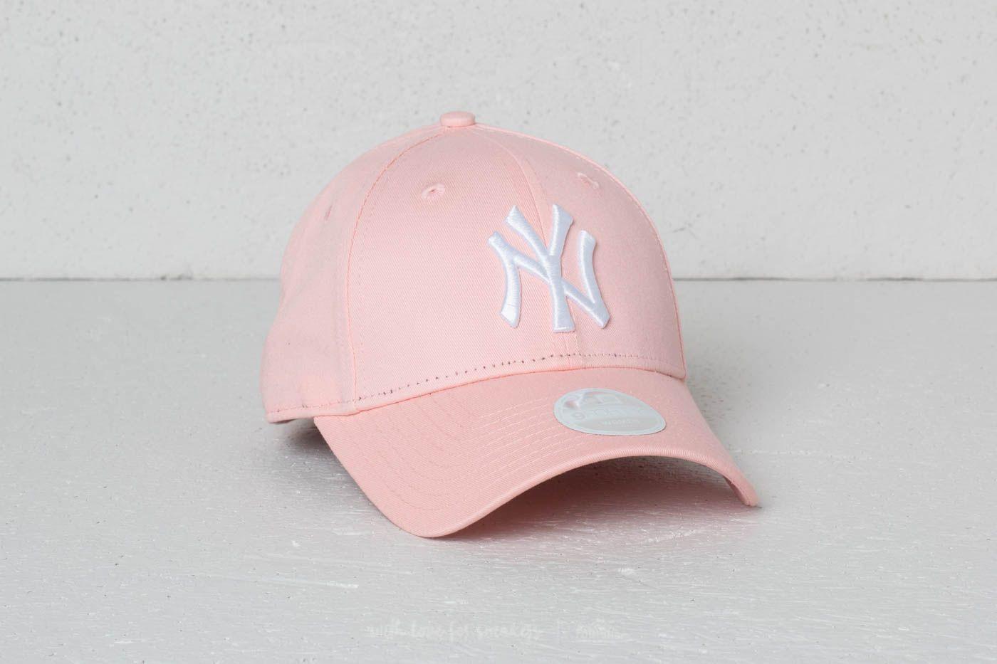 New Era 9Forty Women MLB League Essential New York Yankees Cap Blush Pink   White 49f7e0fec90