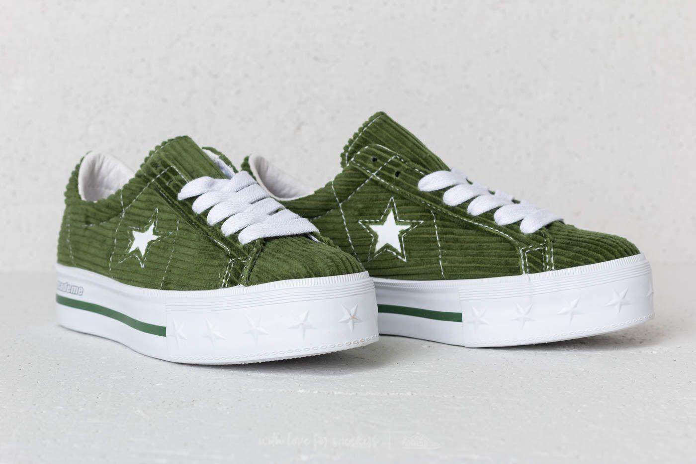 249f4c6dcb3881 converse mademe one star platform. Converse x Mademe One Star Platform OX  Garden Green