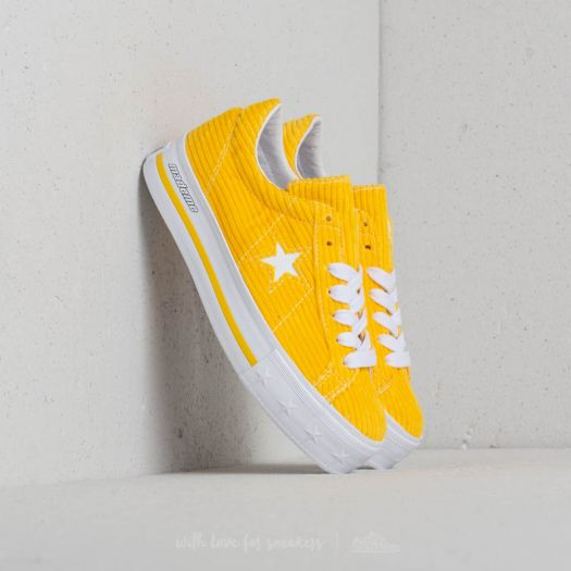 Converse One Star Platform Ox MadeMe Vibrant Yellow (W)
