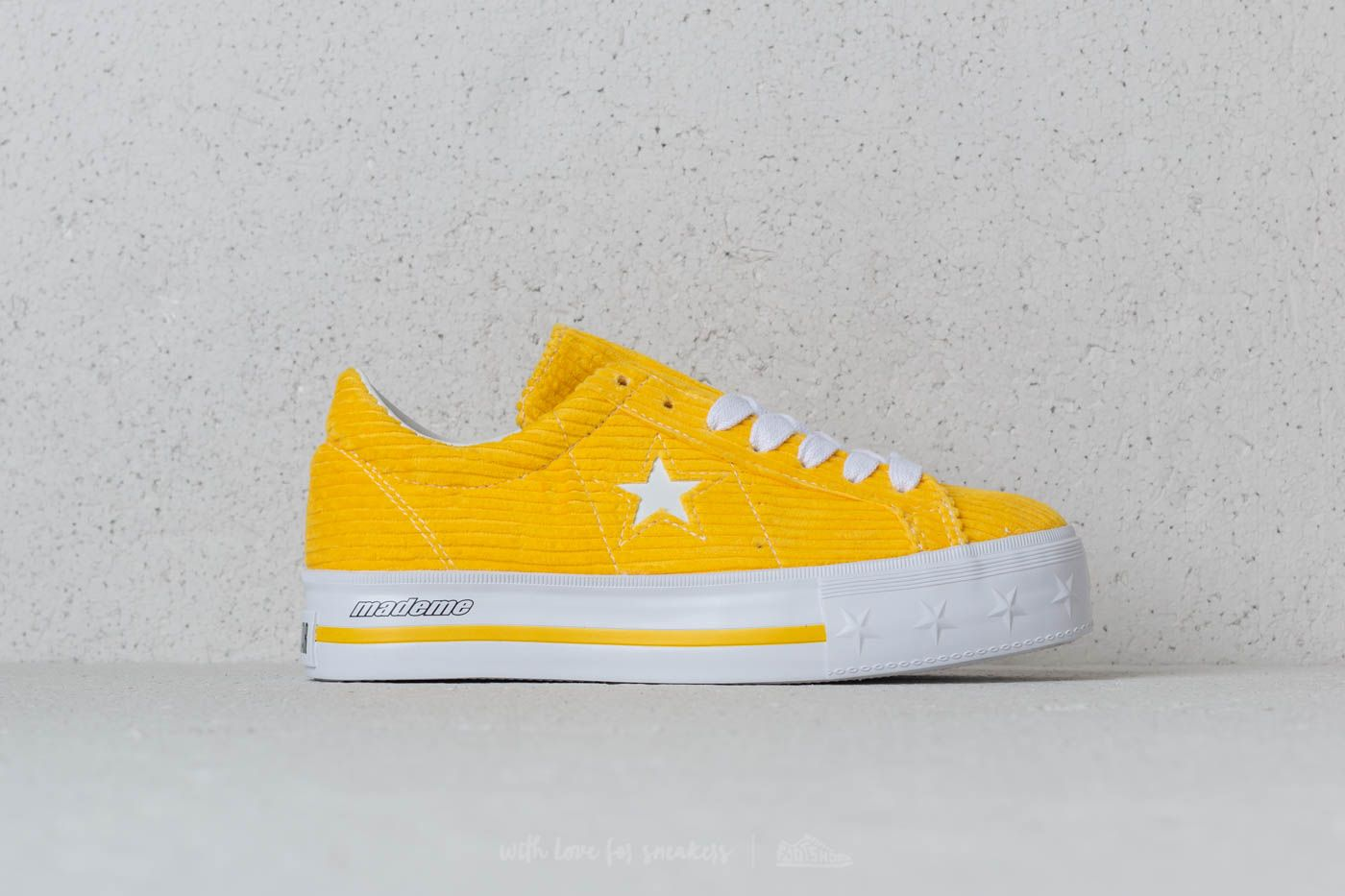 ffe8ac448a1131 Converse x Mademe One Star Platform OX Vibrant Yellow at a great price 81 €  buy