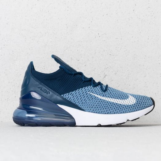 Nike Air Max 270 FlyknitWork Blue White Brave Blue