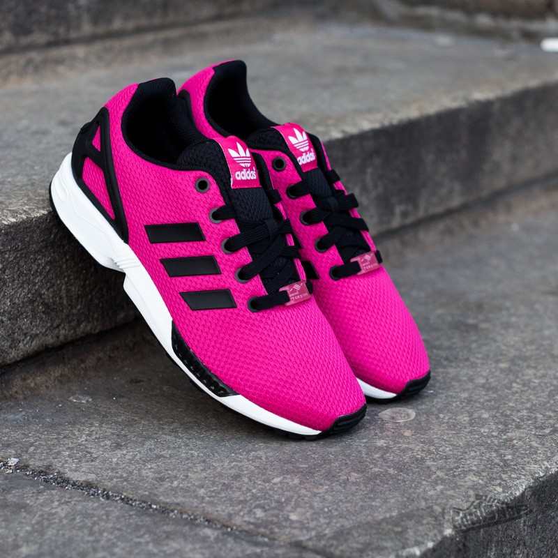 9fc53c086916 adidas ZX FLUX Bold Pink Core Black