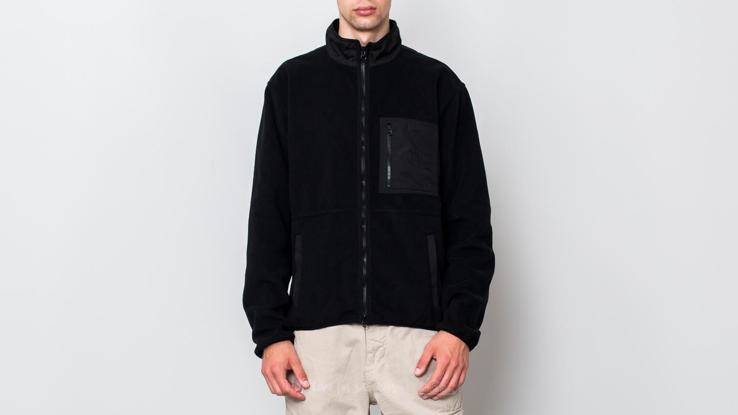 Polar Skate Co. Stenström Fleece Jacket Black/ Black