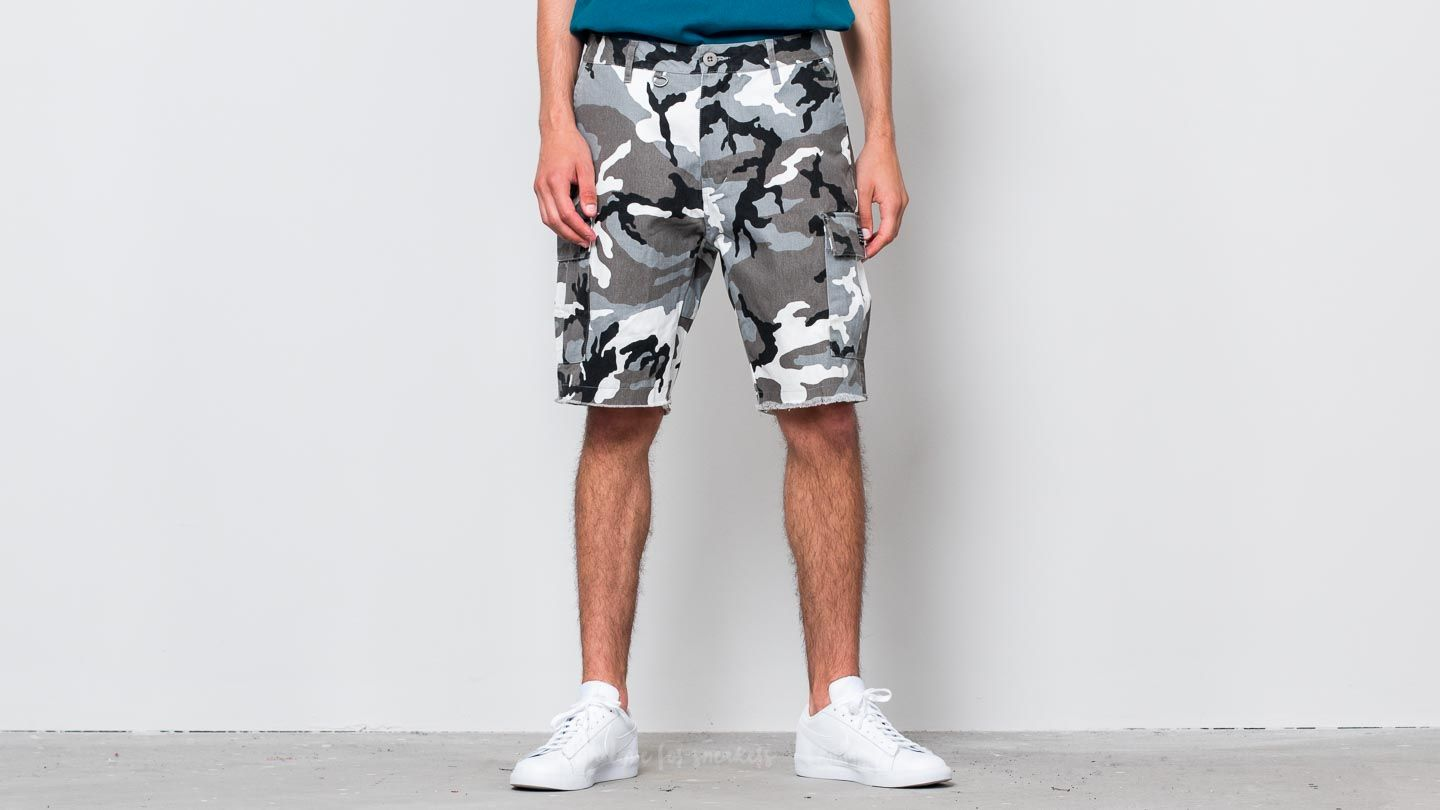 Šortky HUF Standard Issue Cargo Short White/ Camo