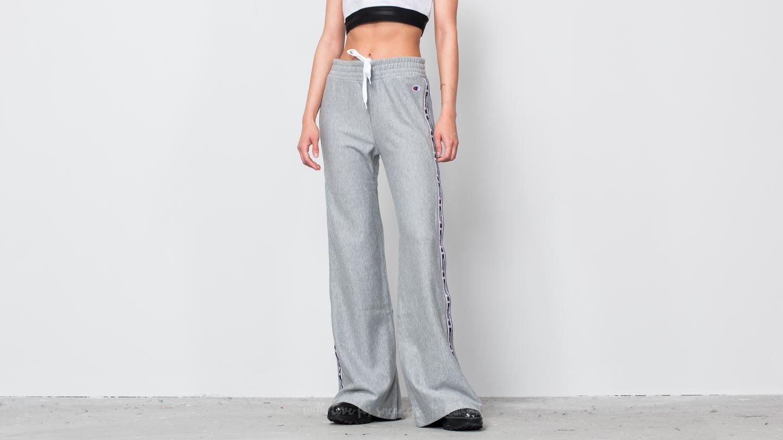 Champion Jacquard Logo Tape Popper Sweatpants Oxford Grey Melange