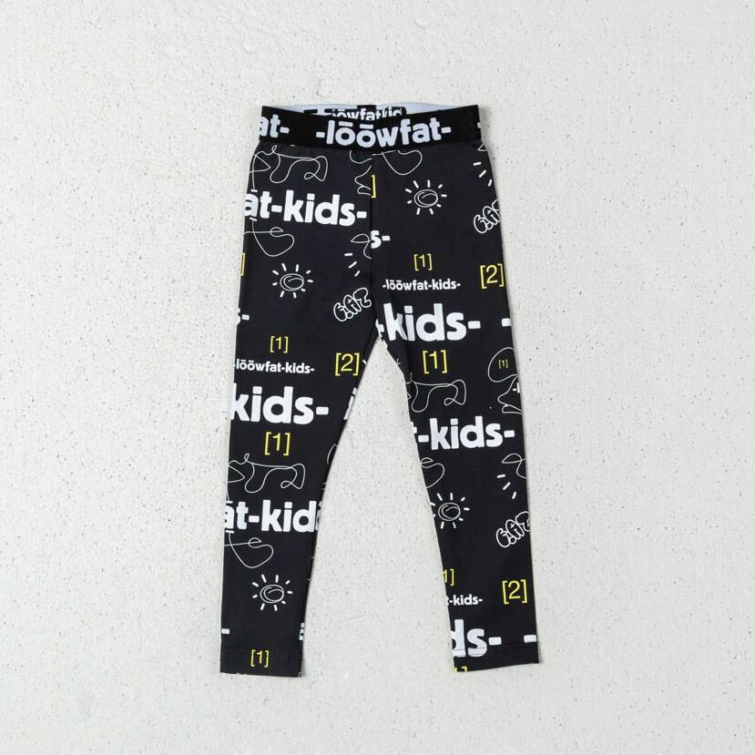LoowFAT KIDS Happy Leggings Black