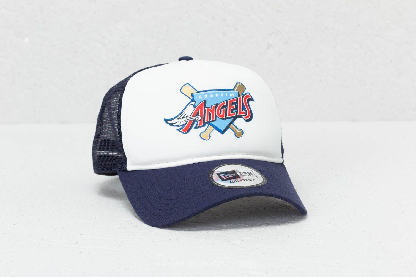303fb7bac91dd New Era 9Forty MLB Aframe Anaheim Angels Trucker Navy  White ...