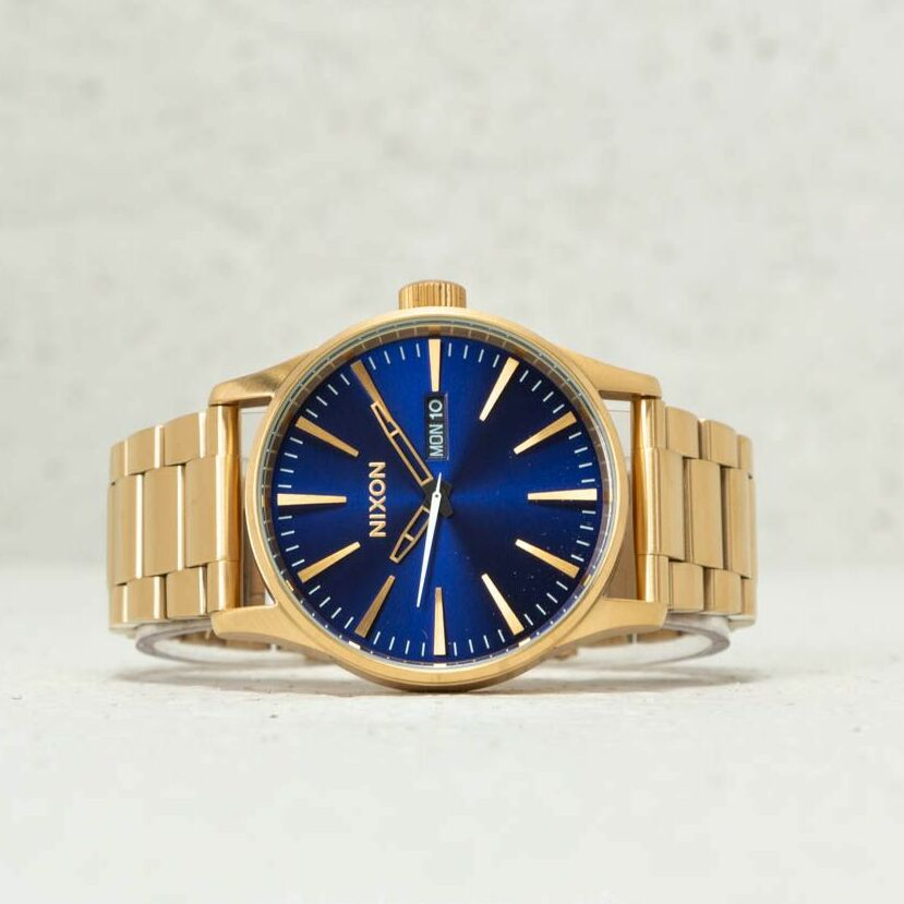 Nixon Sentry SS All Gold Blue Sunray