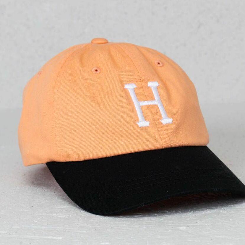 HUF Classic H Curved Visor Cap Peach Univerzální velikost