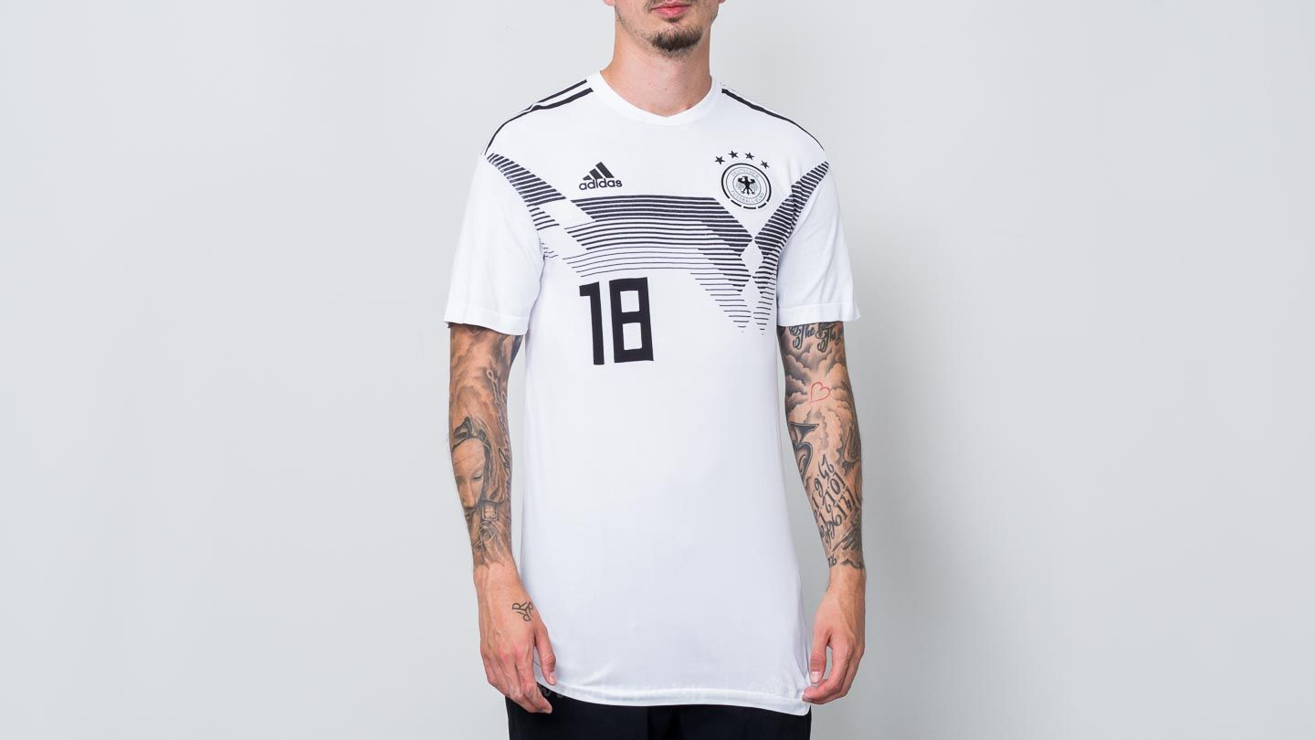 T-shirts adidas Deutcher Fussball-Bund Home Jersey Tee White