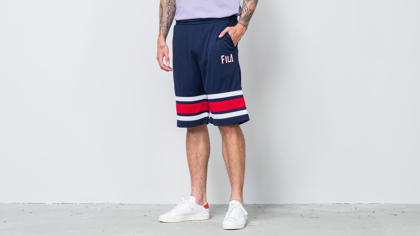 FILA Parker Long Short Peacoat/ Red/ White