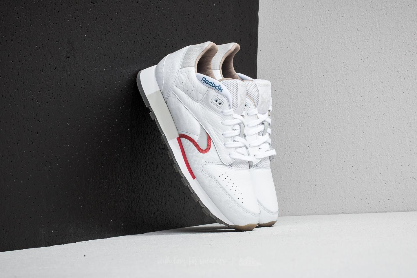 20030e3c3f Reebok Classic Leather Urge White/ Cool Grey/ Red/ Blue nagyszerű árakon 25  779