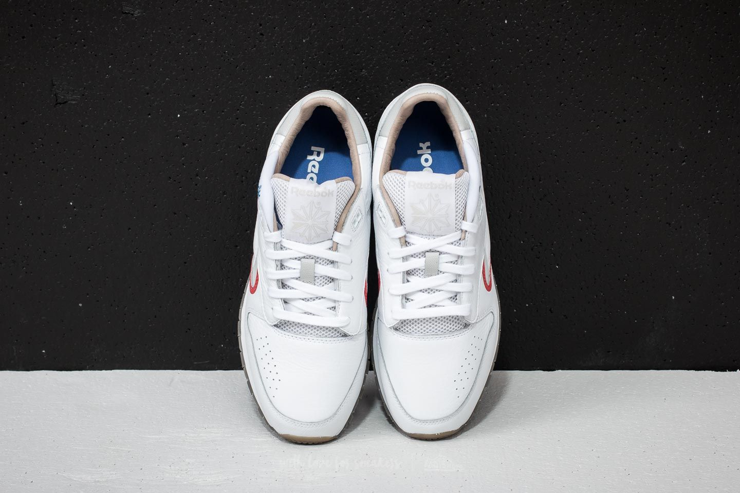 Reebok Classic Leather Urge White  Cool Grey  Red  Blue at a great price 51cdf5a34
